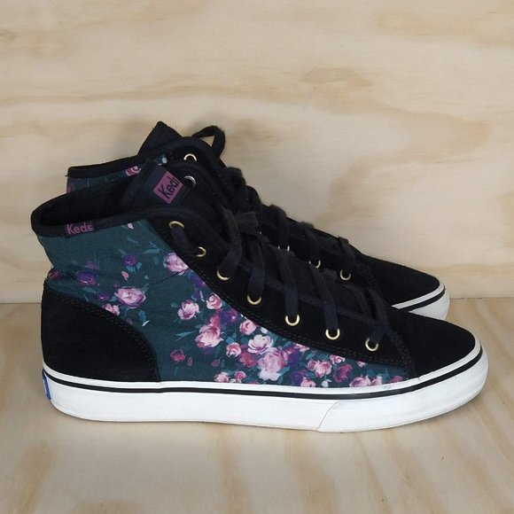 Keds Floral High Top Women´s Size 7.5